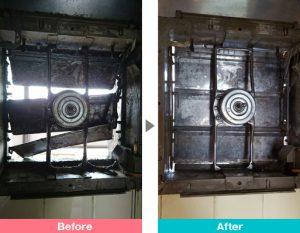 プロペラ式換気扇の油汚れ